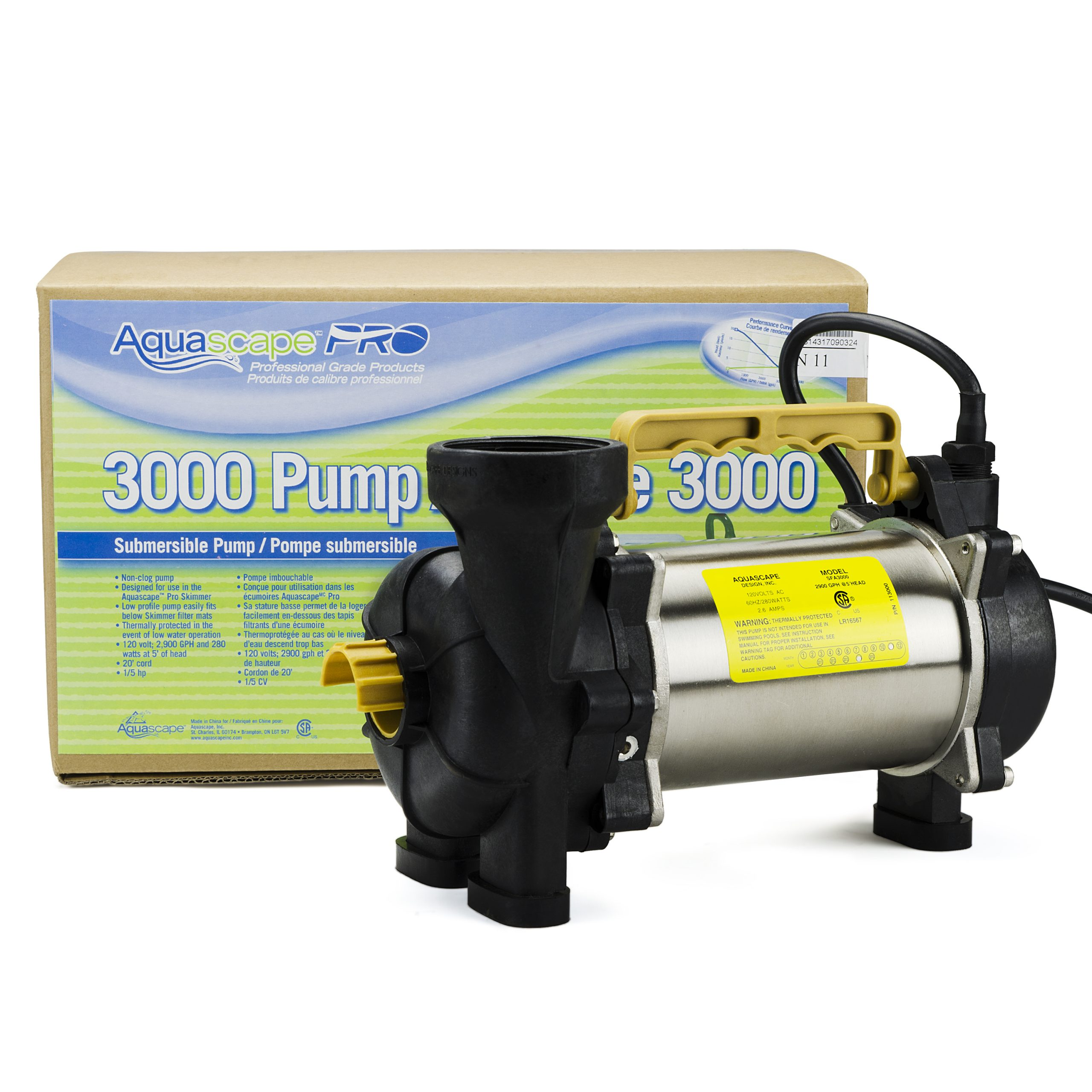 Aquascape AquascapePRO Pond Pump 2900 GPH - 20002 ...