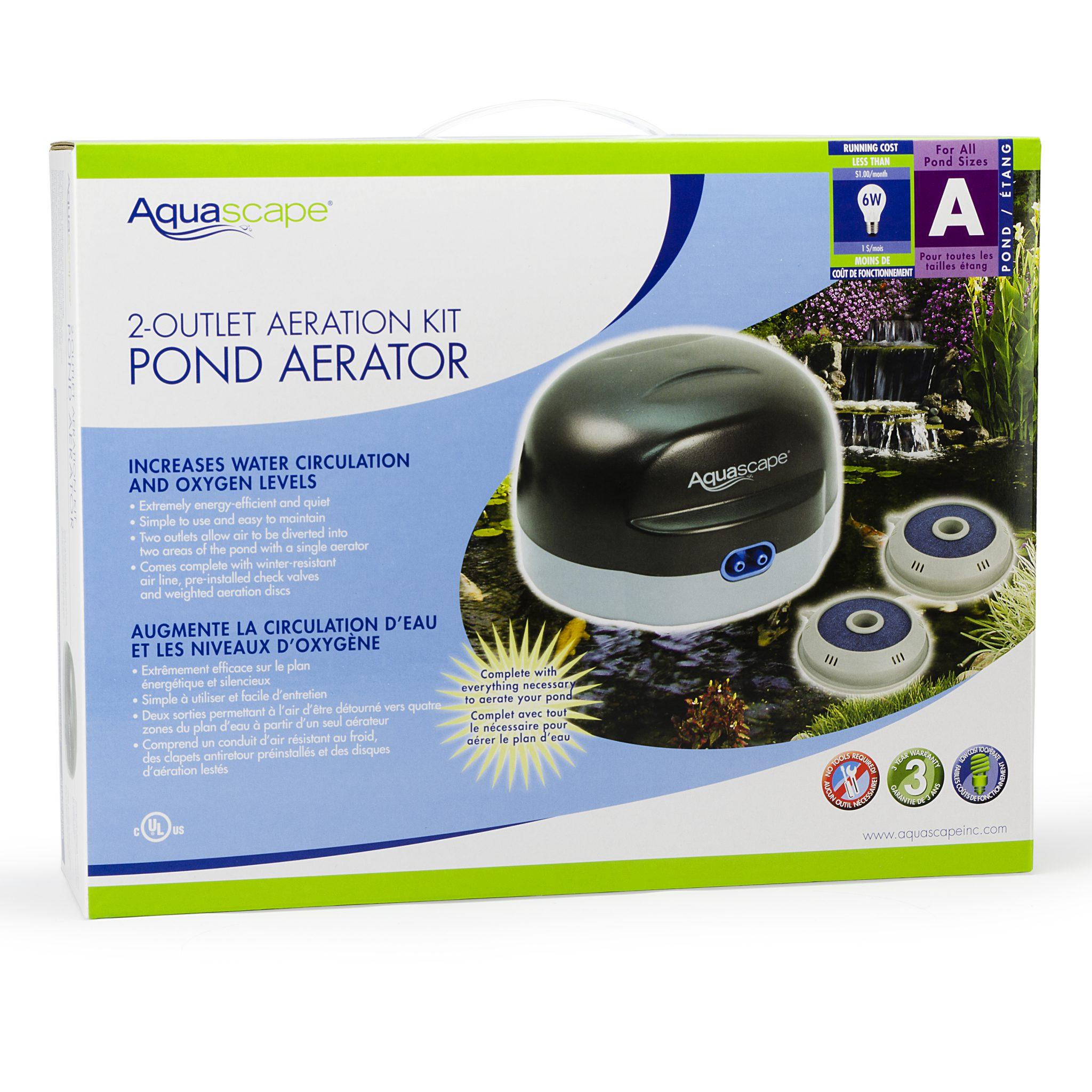 Aquascape Pond PondAir 2 Aeration Kit - 1500 Gallons ...
